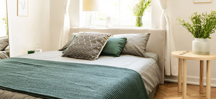 cama cojines